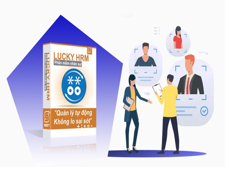 Giao diện phần mềm quản lý công việc luckyhrm